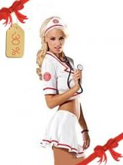 Bel kostum medicinska sestra s krilcem (Obsessive)