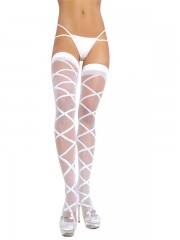 Samostoječe nogavice Criss Cross (Electric Lingerie)